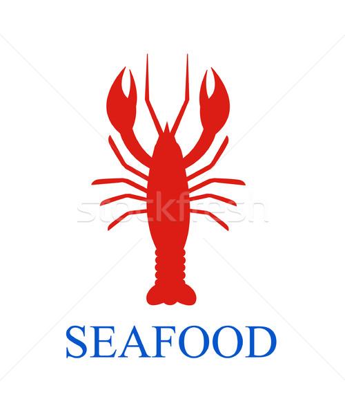 Kreeft zeevruchten menu vis diner vissen Stockfoto © nezezon