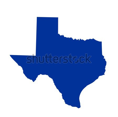 Texas State Map Stock photo © nezezon