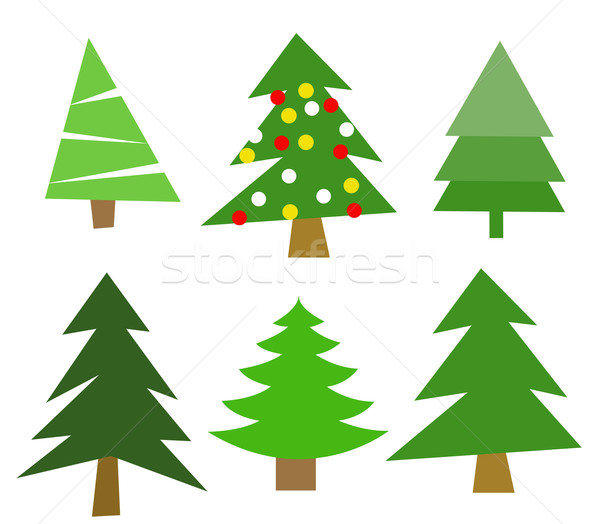 Noël arbres nature fond hiver graphique Photo stock © nezezon
