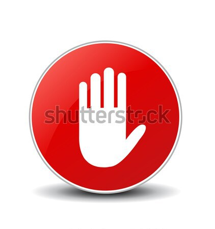 No entry hand sign on white background Stock photo © nezezon