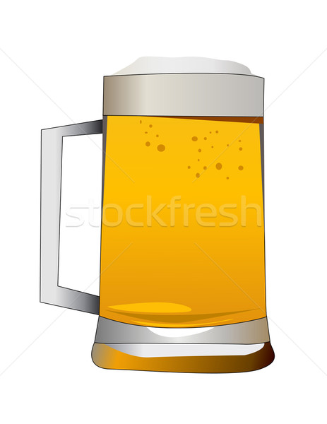 beer alcoholic drink vector illustration Stock photo © nezezon