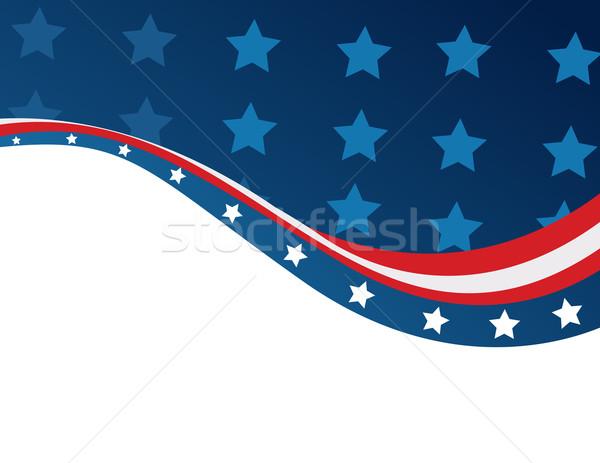 USA zászló stílus vektor kék csillag Stock fotó © nezezon