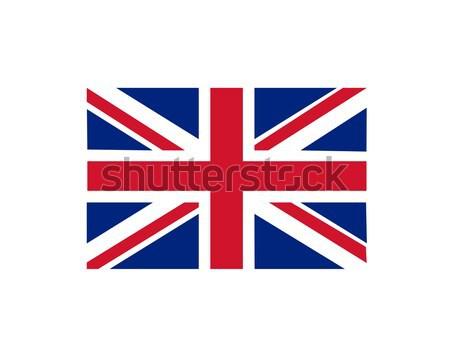 Brit zászló háttér kék piros szín kultúra Stock fotó © nezezon