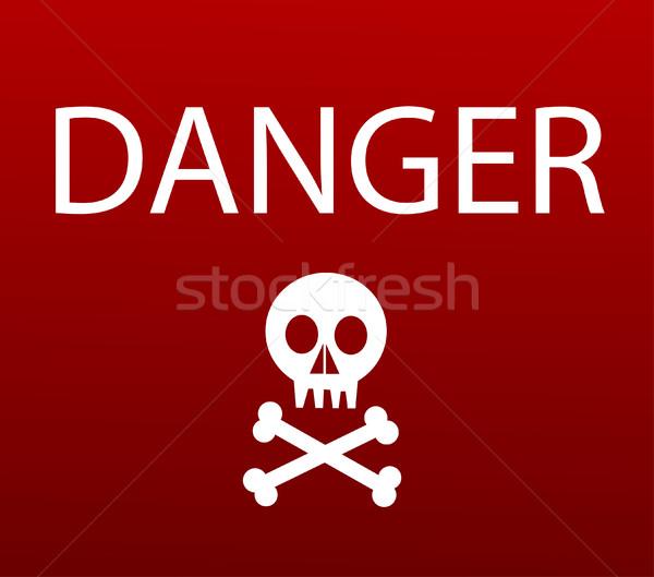 Warning sign with skull Stock photo © nezezon