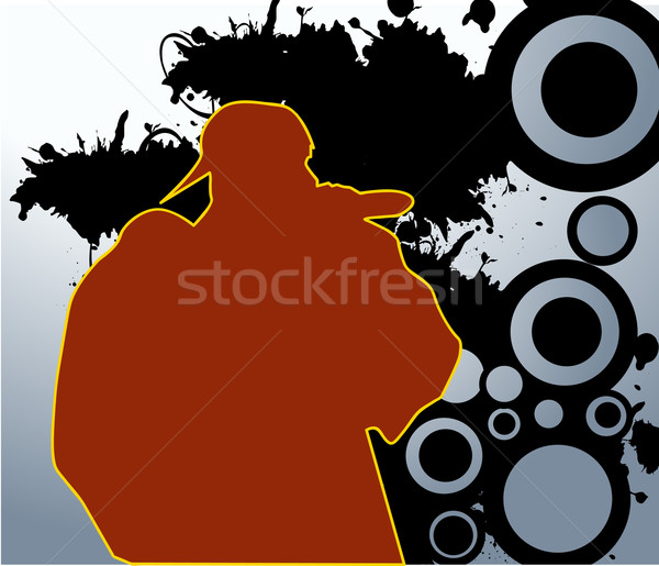 rapper vector Stock photo © nezezon