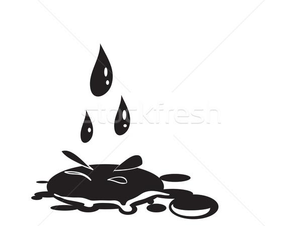 ストックフォト: 油 · 値下がり · ベクトル · エネルギー · 電源 · 液体