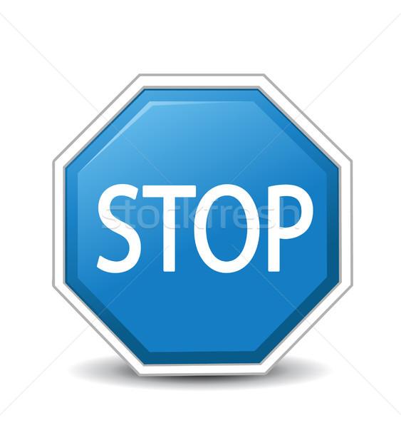 Vector illustration of Stop sign  Stock photo © nezezon