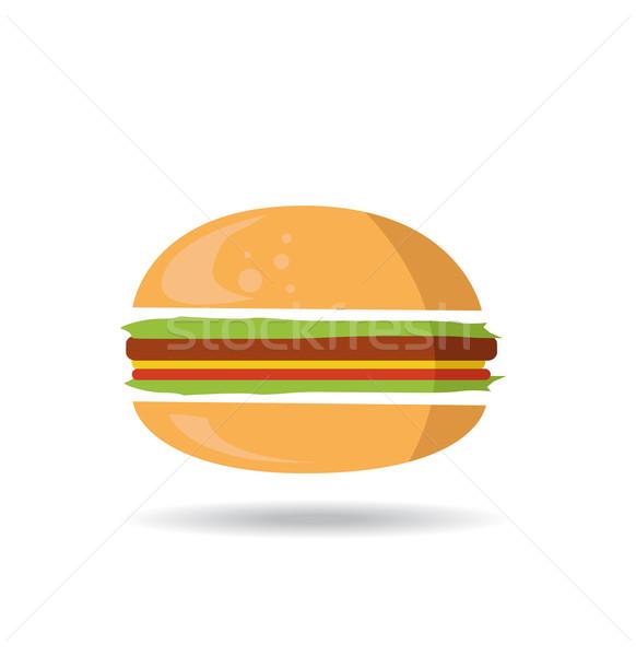 Hamburger symbol Stock photo © nezezon