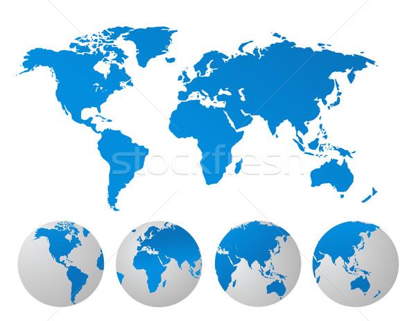 Mapa do mundo negócio textura luz tecnologia espaço Foto stock © nezezon