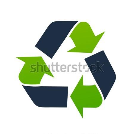 Vector recycle signs Stock photo © nezezon