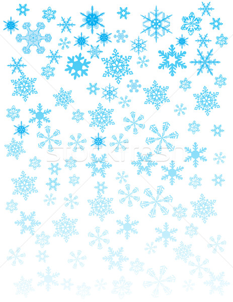 белый дизайна снега фон силуэта Сток-фото © nezezon