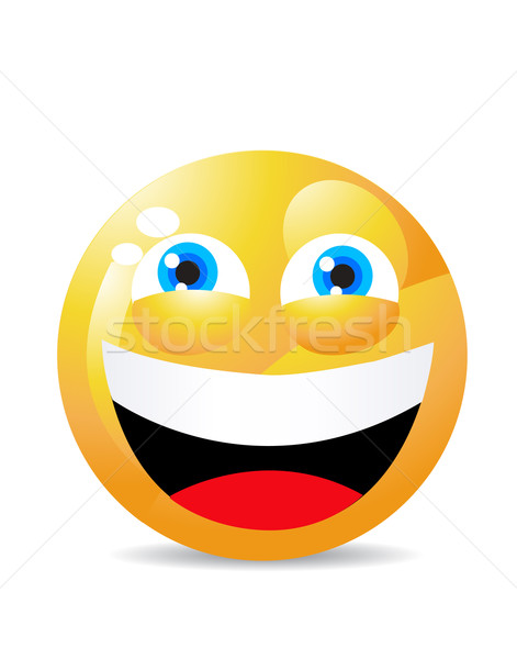 yellow smiley face Stock photo © nezezon