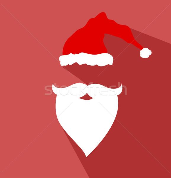 дизайна вектора Дед Мороз лице весело губ Сток-фото © nezezon