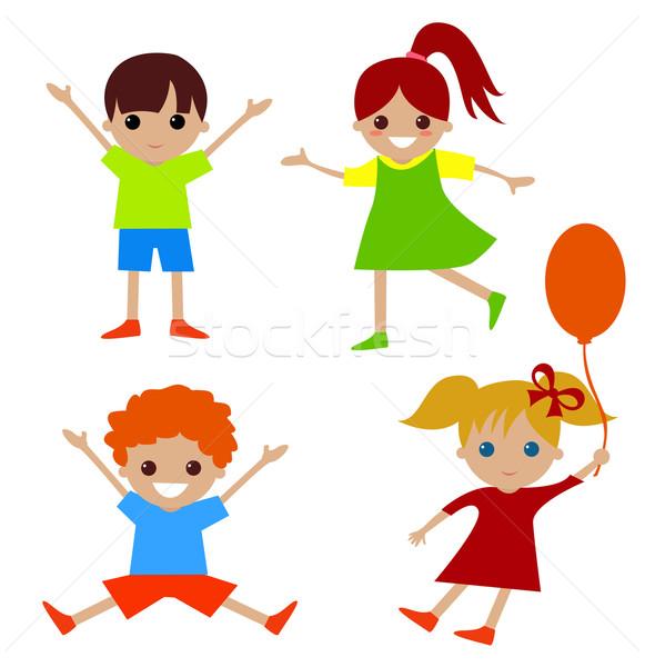 Stock photo: kids cartoon