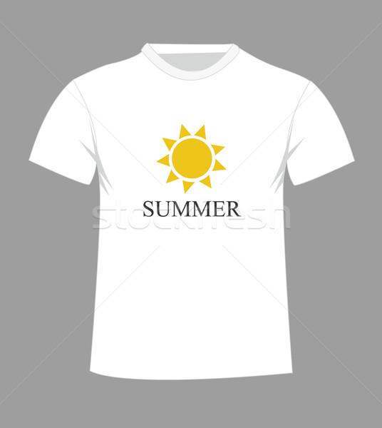 Tshirt design sole moda estate uomini Foto d'archivio © nezezon