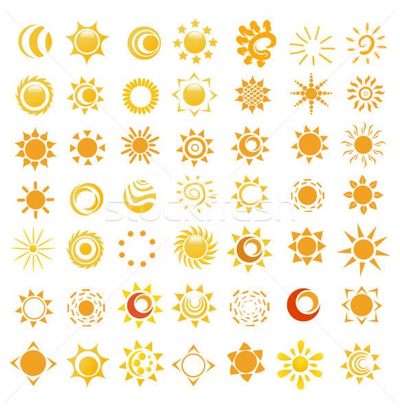 Set lucido sole immagini luce design Foto d'archivio © nezezon