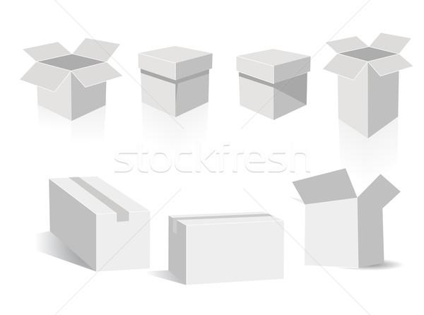 vector boxes  Stock photo © nezezon