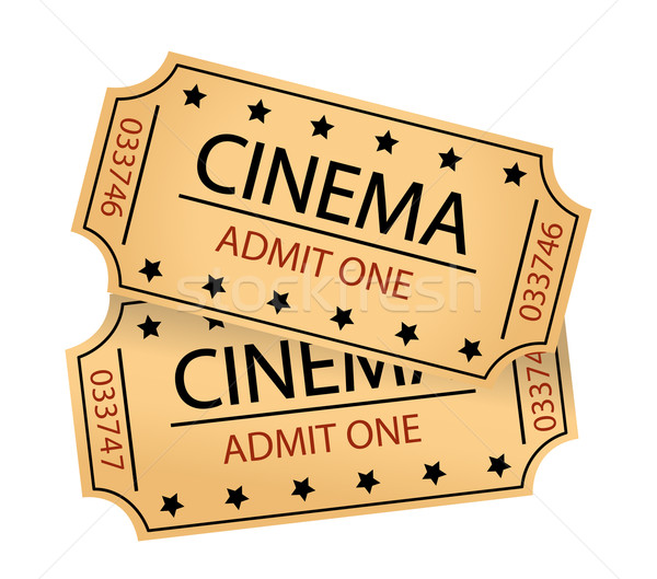 Stockfoto: Bioscoop · tickets · film · kunst · industrie · film