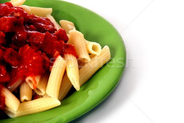 итальянский макароны сыра обеда красный обед Сток-фото © nezezon