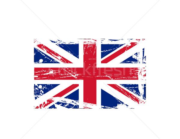Grunge British ink splattered flag vectors Stock photo © nezezon