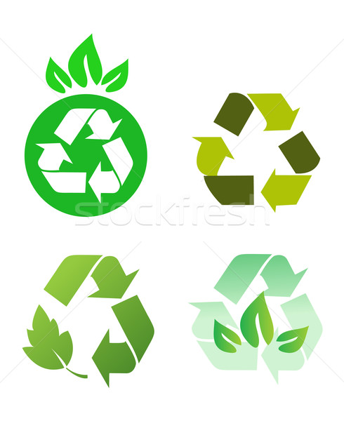 Vecteur recycler signes nature recyclage mouvement Photo stock © nezezon