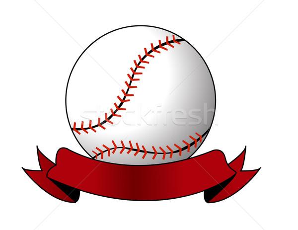 Baseball erba sport squadra palla giocare Foto d'archivio © nezezon