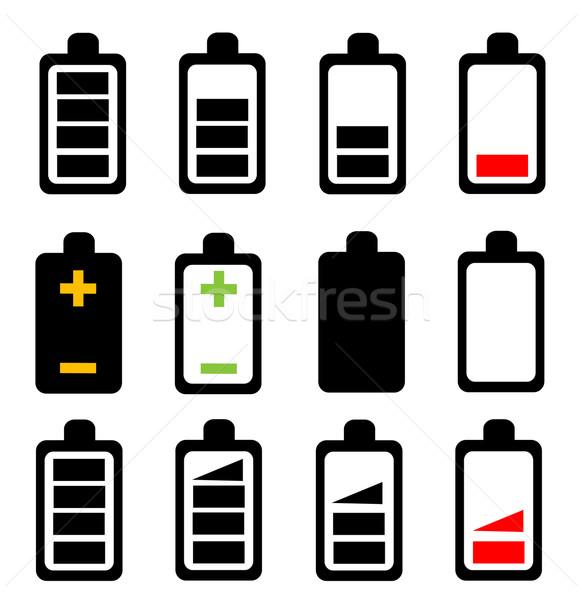 Battery icon Stock photo © nezezon