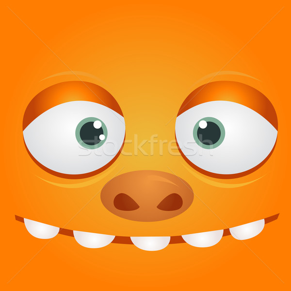 Vector monster cartoon oog hoofd tekening Stockfoto © nezezon