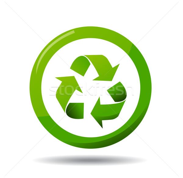 Reciclar ícone projeto mundo assinar vida Foto stock © nezezon
