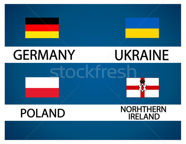 European soccer cup - group C Stock photo © nezezon