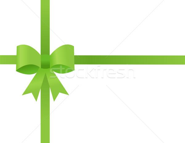 Verde fita branco fundo caixa apresentar Foto stock © nezezon