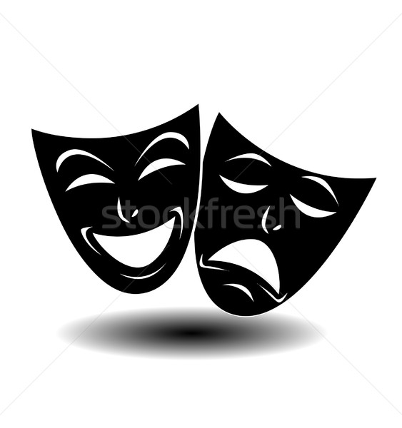 Theater icon with happy and sad masks Stock photo © nezezon
