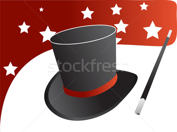 магия Hat вектора звезды черный Cap Сток-фото © nezezon