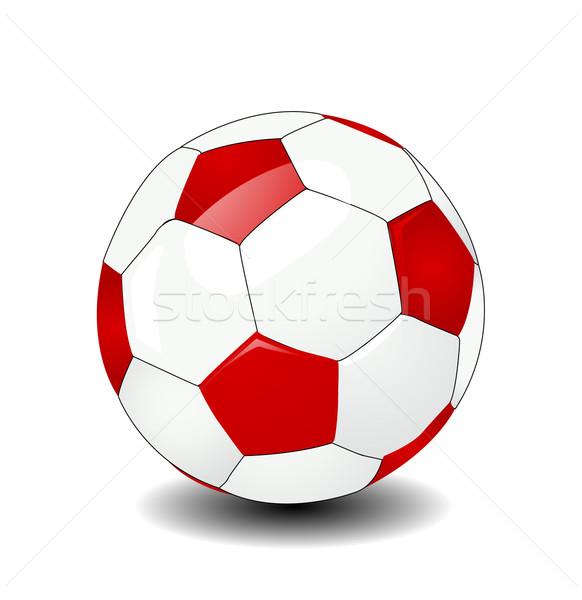 Vettore soccer ball calcio calcio sfondo bianco Foto d'archivio © nezezon