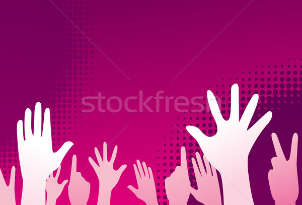 clubbing people vector illustration Stock photo © nezezon