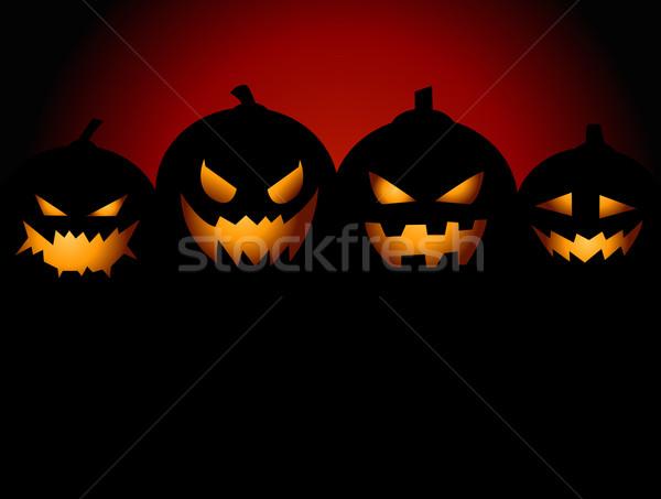 Festa abóboras cara projeto noite cartão Foto stock © nezezon