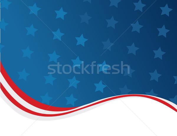 Negyedike terv háttér felirat kék zászló Stock fotó © nezezon