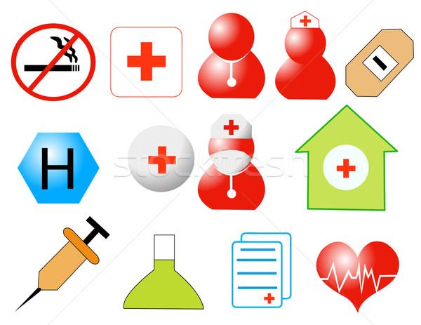 Medicina icone vettore design ospedale web Foto d'archivio © nezezon