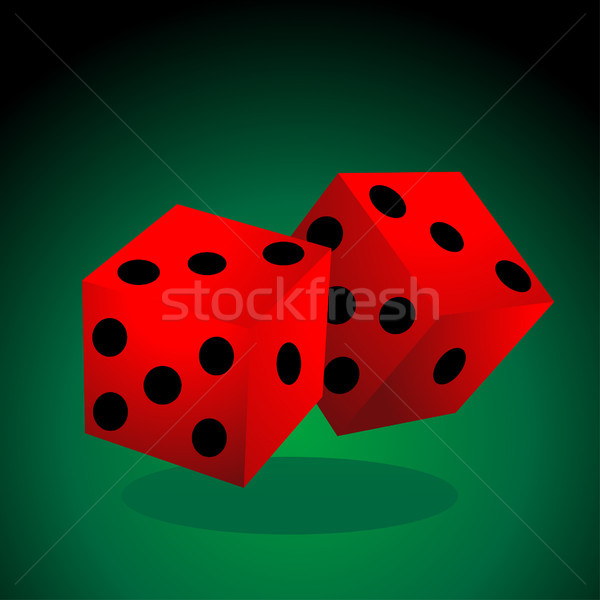 dice vector illustration Stock photo © nezezon