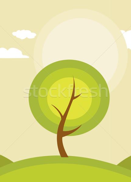abstract tree  Stock photo © nezezon