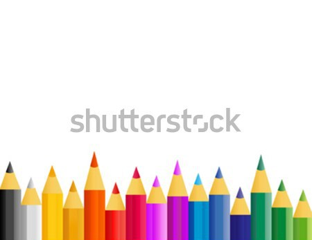 abstract retro vector colorfull paint pencils Stock photo © nezezon