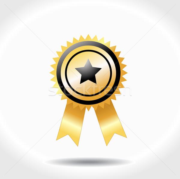 Prêmio ícone isolado branco assinar estrela Foto stock © nezezon