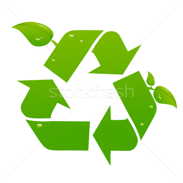 Vector recycle signs Stock photo © nezezon