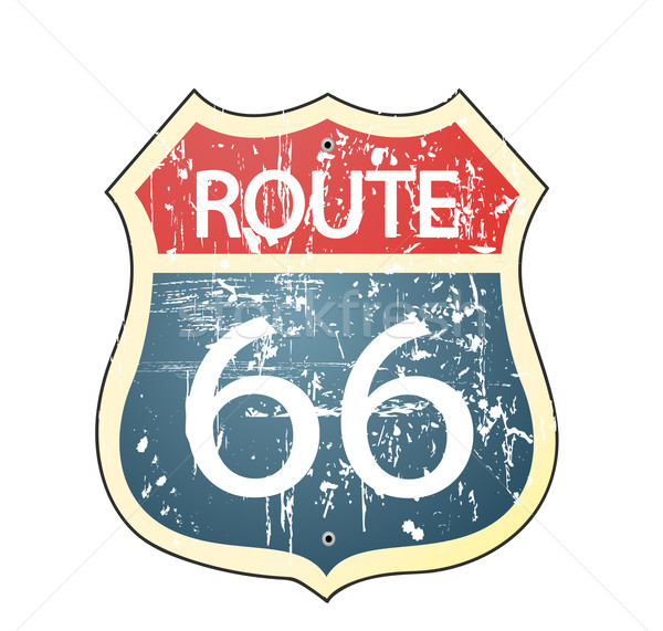 Grunge route 66 roadsign  Stock photo © nezezon