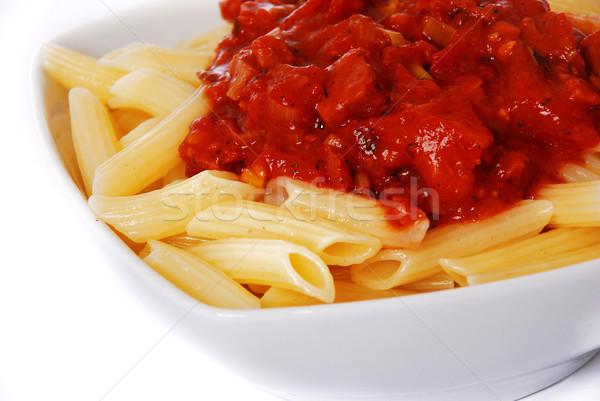 Italiana maccheroni cena pasta fresche pasto Foto d'archivio © nezezon