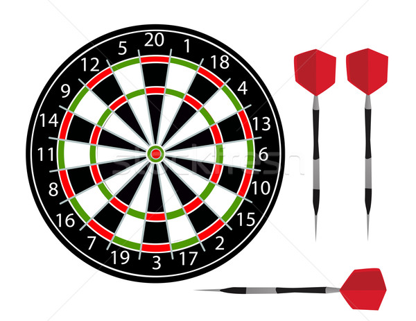 Darts vector Stock photo © nezezon