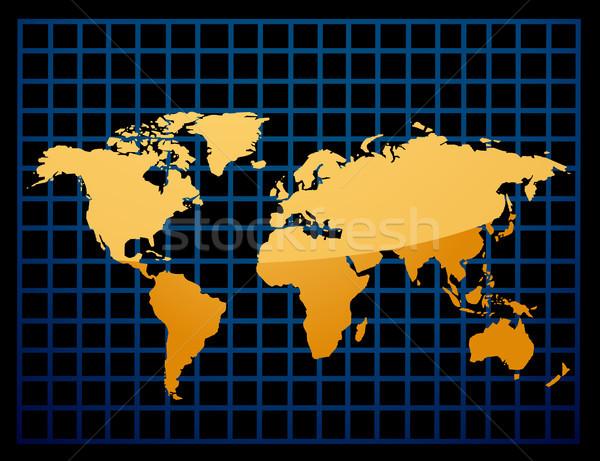 Mapa do mundo textura internet relógio mapa mundo Foto stock © nezezon