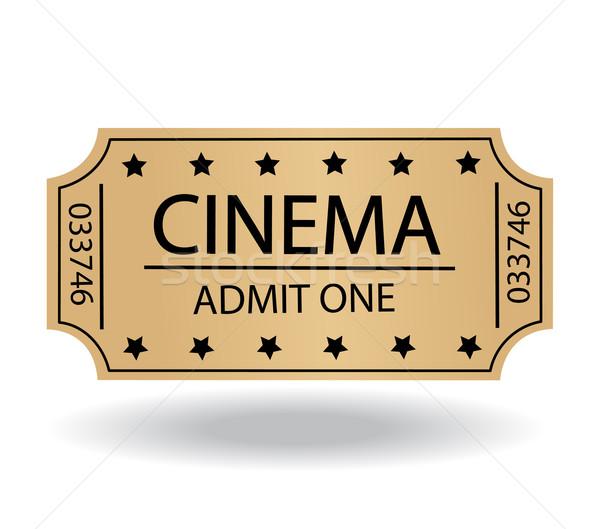 Cinema bilete hârtie semna industrie concert Imagine de stoc © nezezon