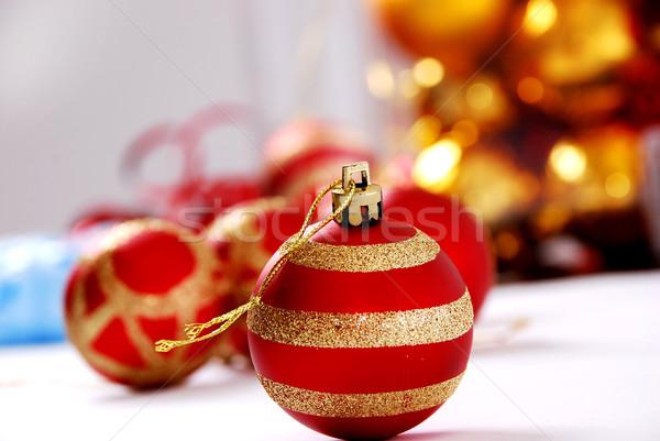 ストックフォト: クリスマス · ボール · 光 · パーティ · 抽象的な · デザイン