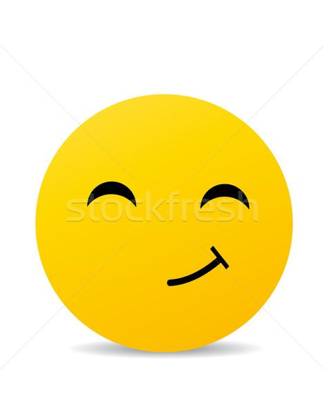 Foto d'archivio: Moderno · giallo · ridere · felice · sorriso · faccia